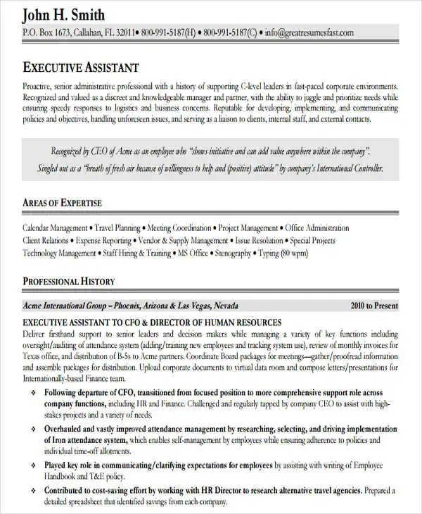 32 Modern Executive Resume Templates Free & Premium