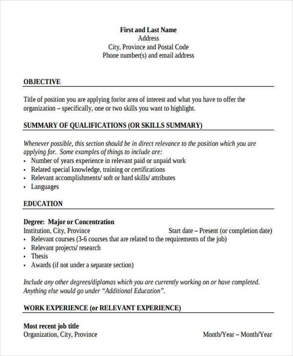 35 Resume Templates  PDF DOC  Free  Premium Templates