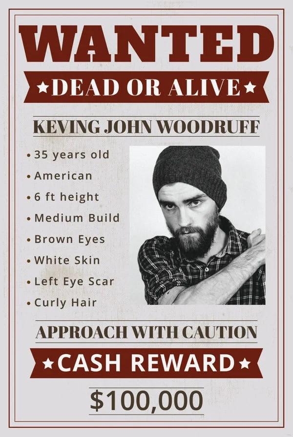 Funny Wanted Posters : funny, wanted, posters, Funny, Wanted, Posters, Printable,, Sample,, Example,, Format, Download!, Premium, Templates