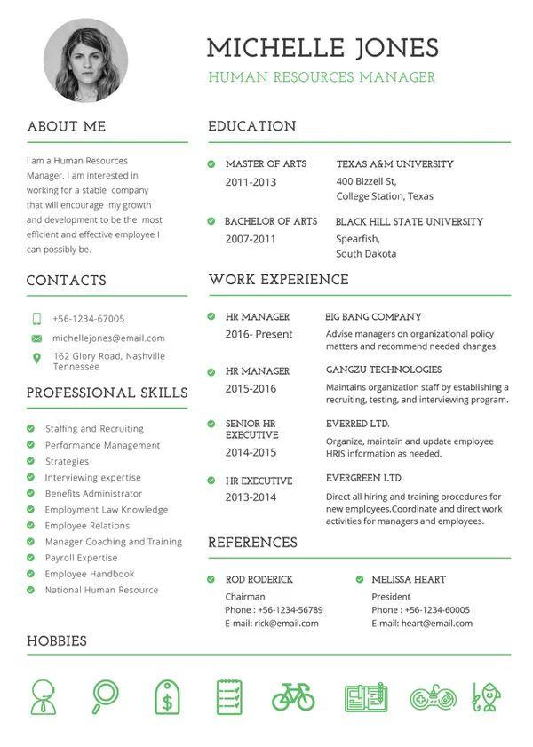 hr resume template 2017