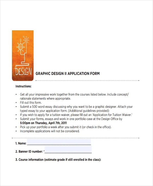 7 Job Application Letters For Graphic Designer Free Word PDF Format Download Free