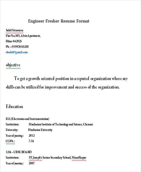 23 Modern Fresher Resume Templates Free & Premium Templates