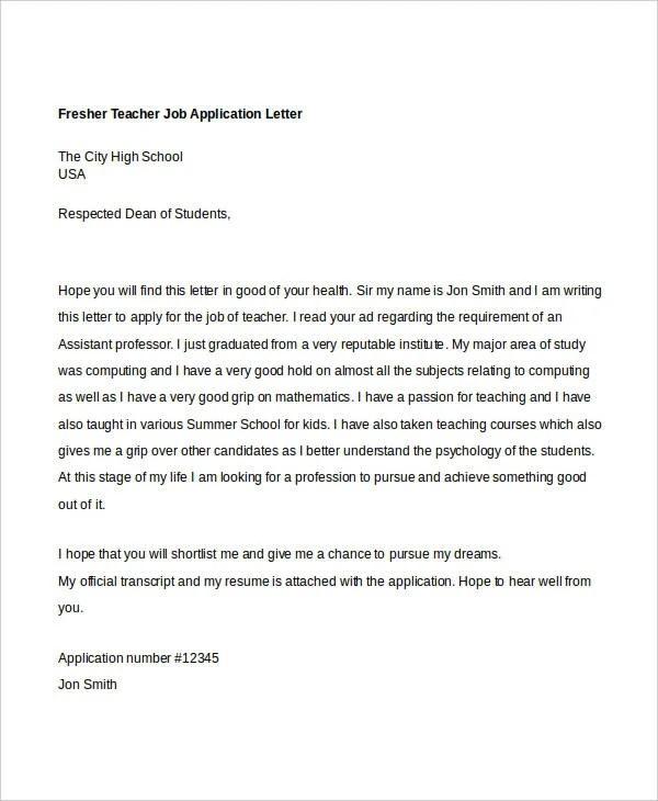 40 Job Application Letters Format Free & Premium Templates