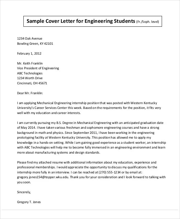Structural Engineer Cover Letter Graduate June 2021