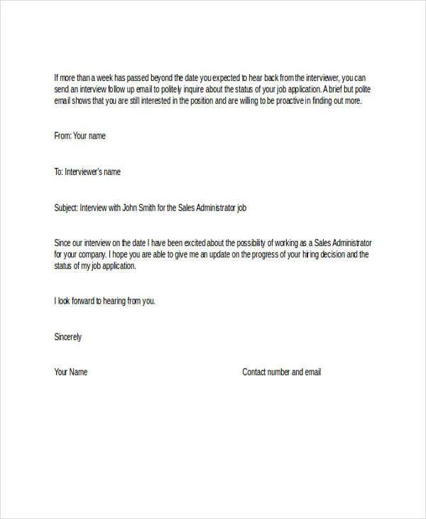 still interested in position letter