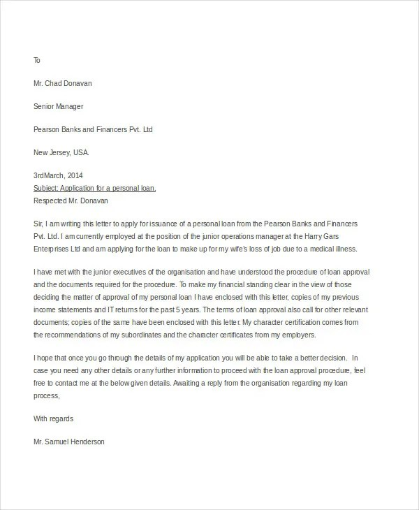 Example of cover letter for loan application  Shielding a Secrecy While in any Task Seek