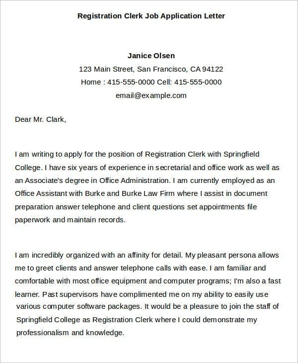40 Job Application Letter Templates  PDF Word  Free