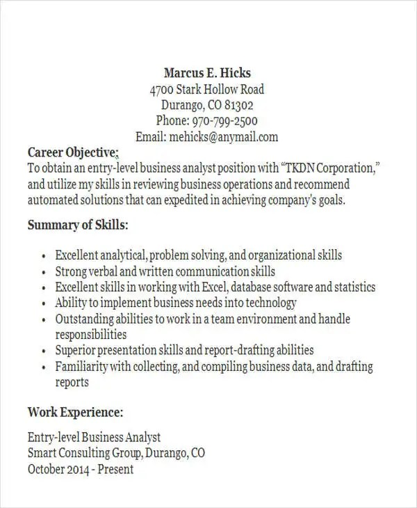 50 Business Resume Templates PDF DOC Free & Premium