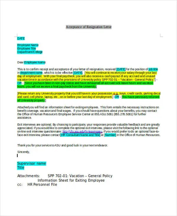 Rude Resignation Letters  5 Free Sample Example Format Download  Free  Premium Templates