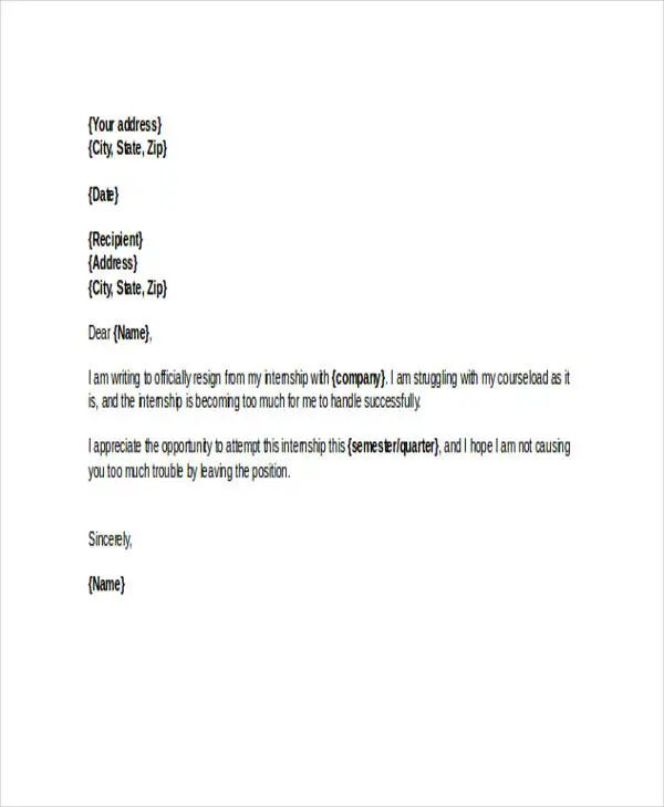 how to write a resignation letter examples