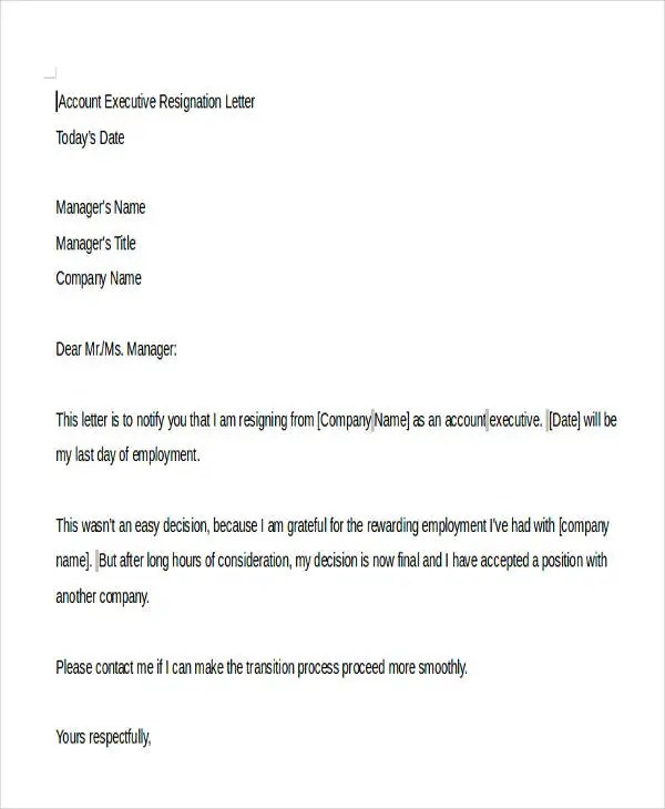 35 Resignation Letter Templates and Examples  Free