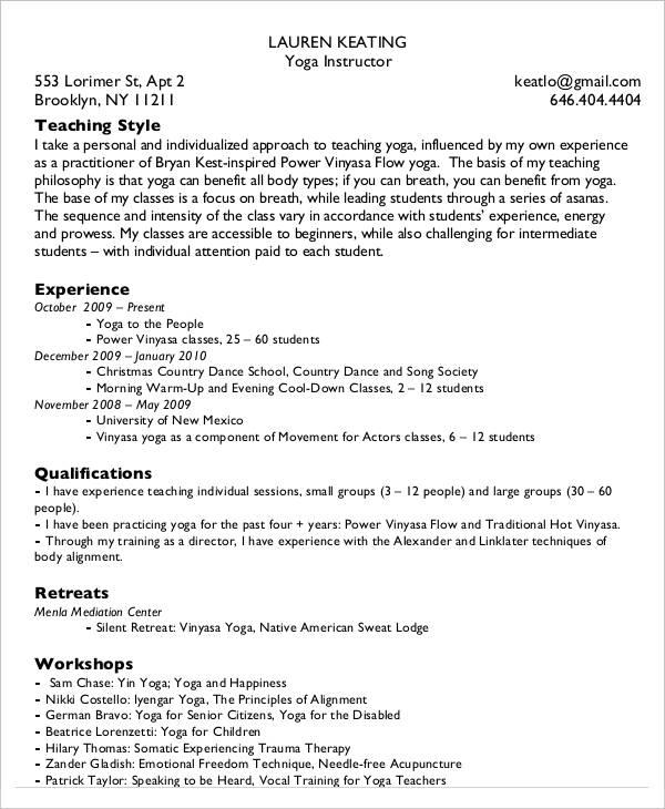20 Simple Teacher Resume Templates  PDF DOC  Free  Premium Templates