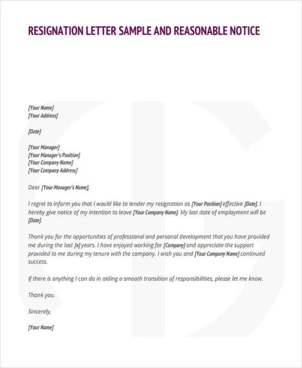 Retirement Letter Of Resignation - Resume Examples | Resume