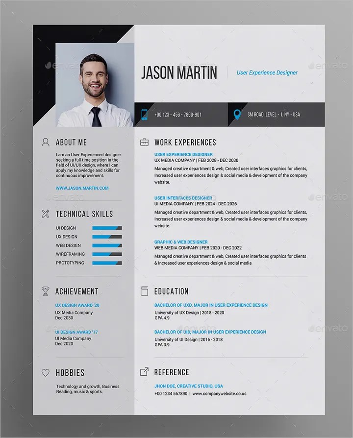 41 Resume Templates & Examples Professional Modern