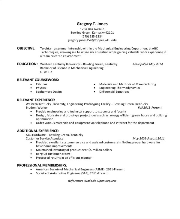 37 Engineering Resume Examples Free & Premium Templates