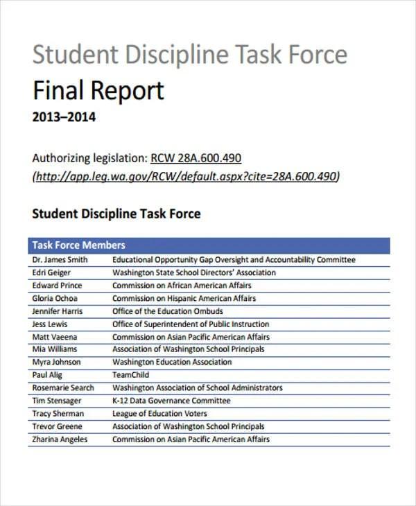 14 Sample Student Report Templates  Word PDF  Free  Premium Templates
