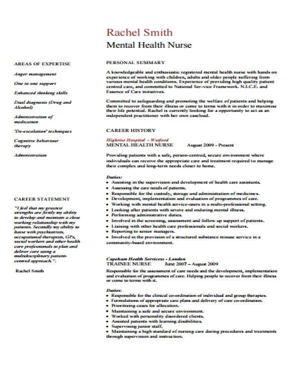 Cv Format For B Sc Nursing - Resume Examples | Resume Template