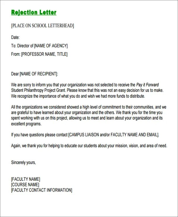 Contoh Email Formal : contoh, email, formal, Formal, Rejection, Letters, Sample,, Example, Format, Download, Premium, Templates