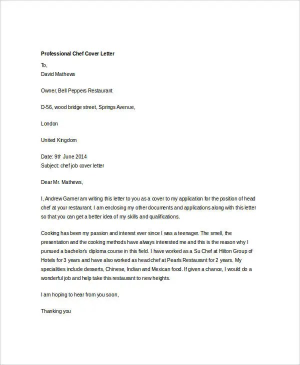 36 Cover Letter Template in Word  Free  Premium Templates