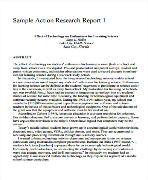 9 Research Report Formats Free Sample Example Format