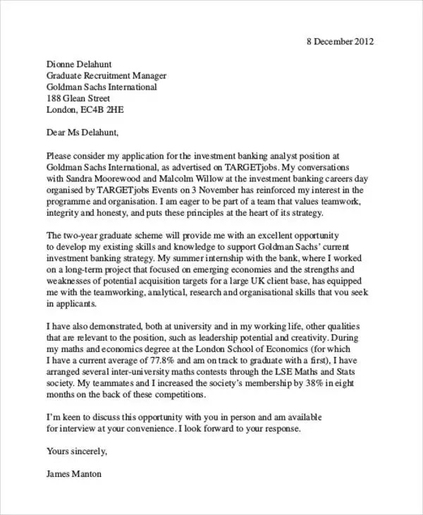 9+ Finance Cover Letters - Free Sample, Example Format Download ...