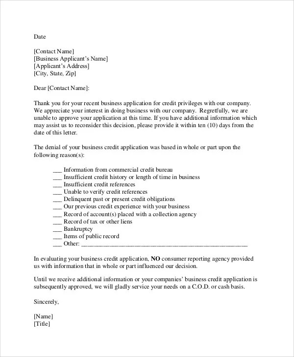 36 Rejection Letter PDF Free & Premium Templates