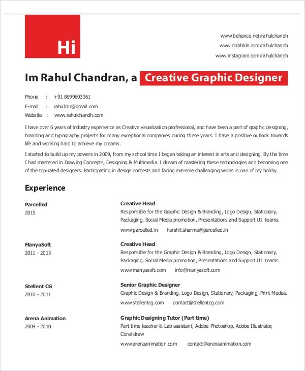 graphic design resume pdf - April.onthemarch.co