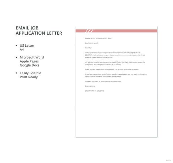 job application letter format in doc job application