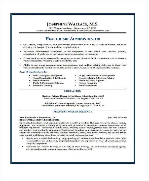 10 Health Care Curriculum Vitae Templates  Free Sample Example Format Download  Free