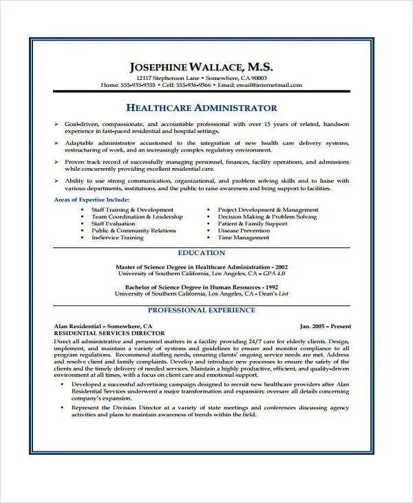 health care assistant cv