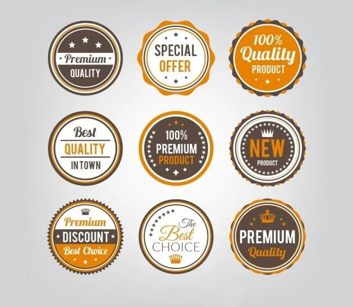 64 free badges designs