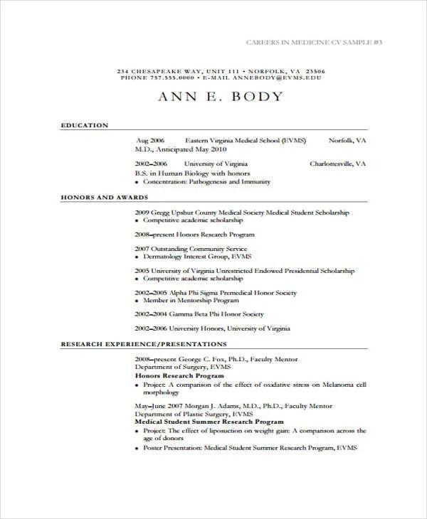 11 Student Curriculum Vitae Templates PDF DOC Free