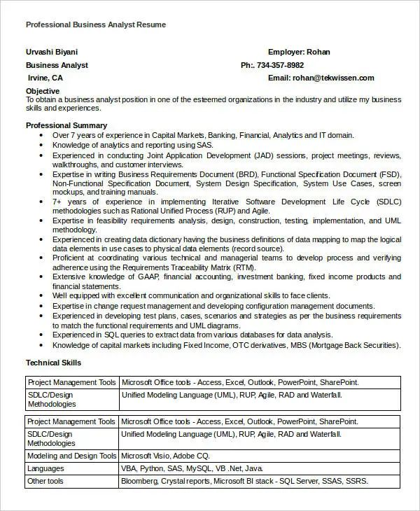 doc professional resume template free
