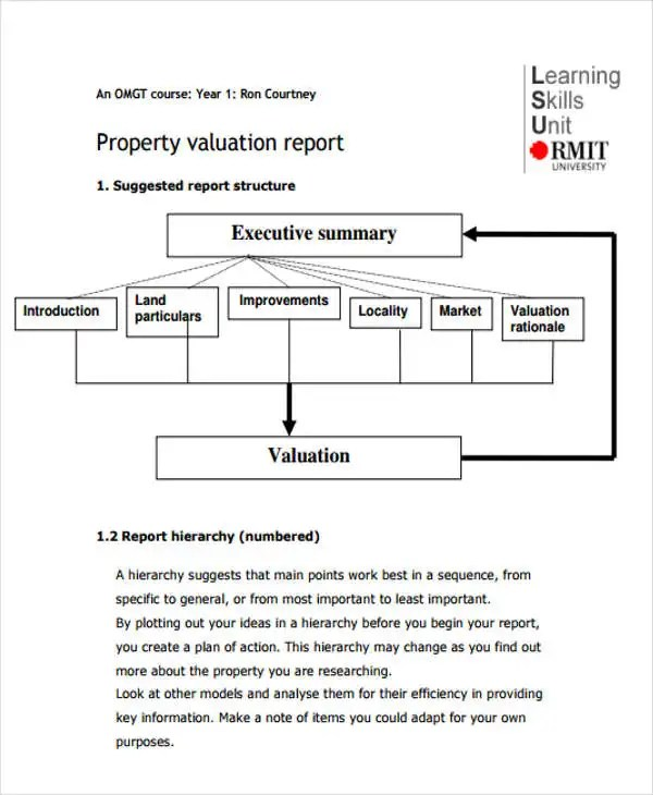 Valuation Report Templates 10 Free Word Pdf Apple Pages