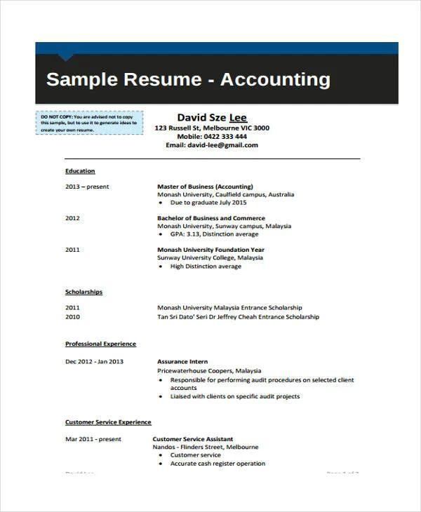 clerk resume sample malaysia