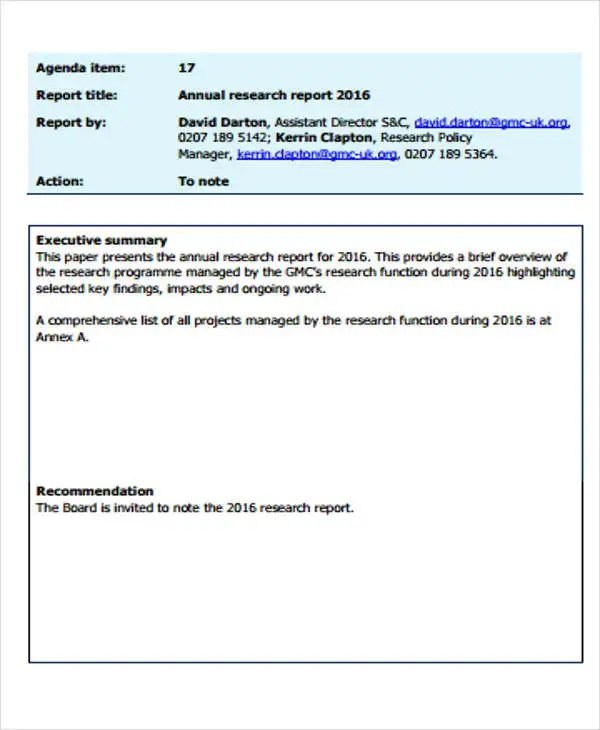 7 Research Report Formats Free Sample Example Format Download