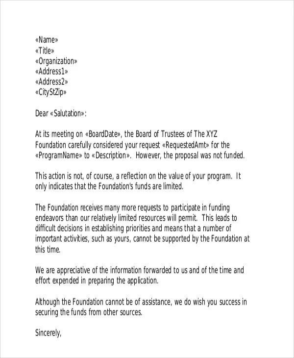 36 Rejection Letter PDF Free & Premium Templates