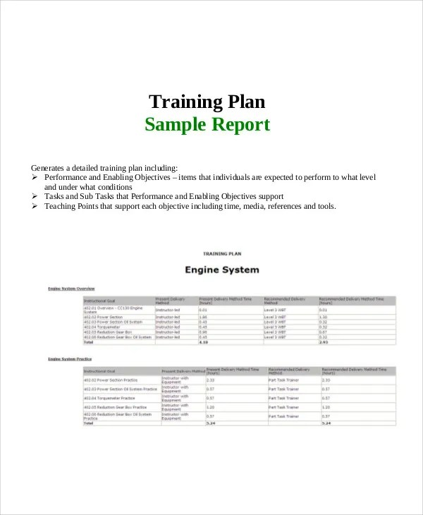 22+ Training Report Template - Free Sample, Example Format Download ...