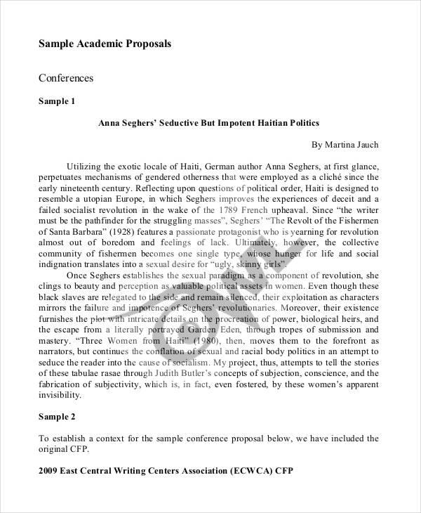 8 Academic Proposal Templates Word PDF Free