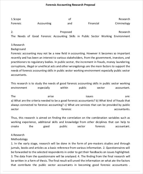 Accounting Proposal Templates 9 Free Word PDF Format Download