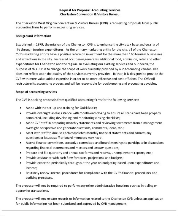 14 Accounting Proposal Templates Free Sample Example