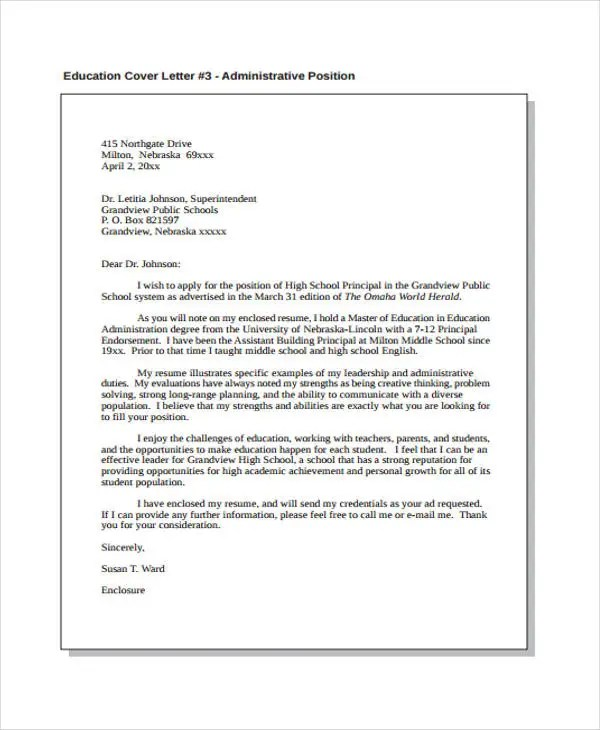 Administrative Assistant Cover Letters 9 Free Word PDF Format Download Free Amp Premium