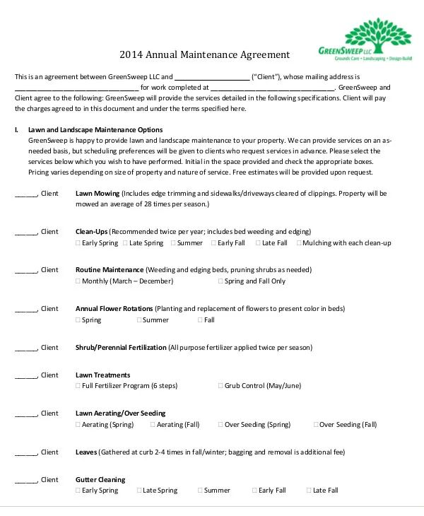 service agreement contracts