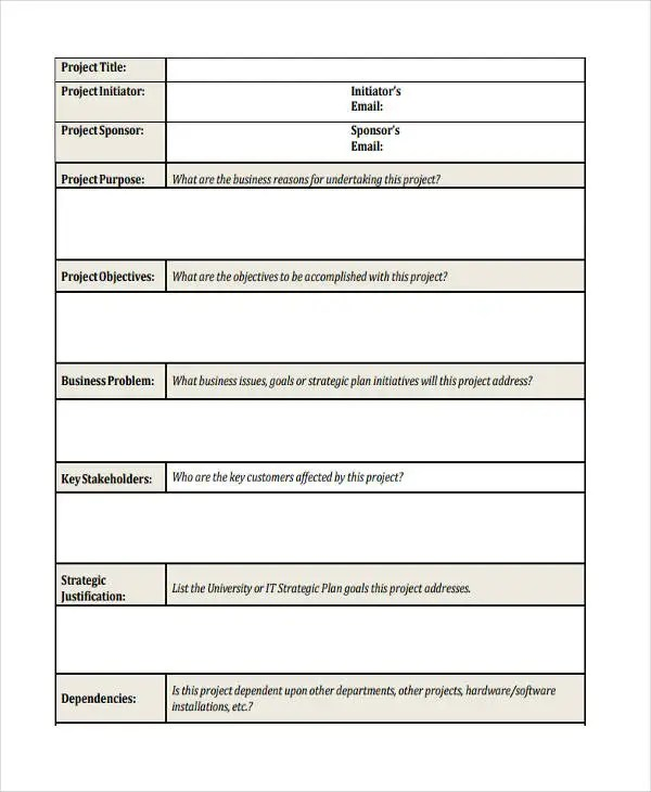 IT Project Proposal Template 9 Free Word PDF Format