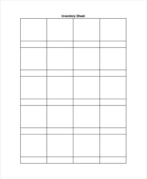 10+ Inventory Sheet Templates - Free Sample, Example Format Download ...
