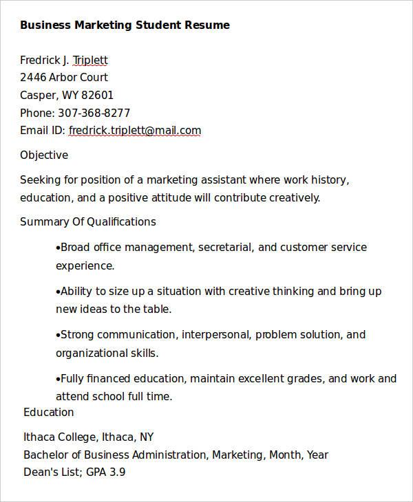 28 Marketing Resume Templates PDF DOC Free & Premium