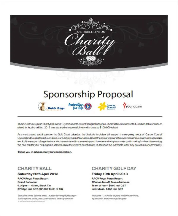13 Event Sponsorship Proposal Templates Free Sample