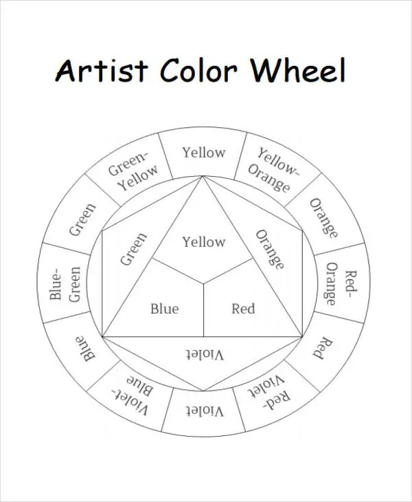 Sle General Color Chart 10 Documents In Pdf ~ Color Chart Template