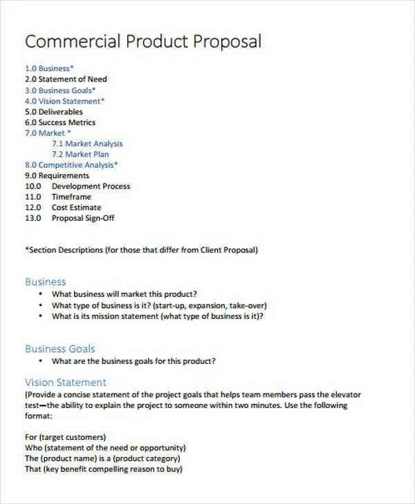 Product Business Proposal Templates 7 Free Word PDF