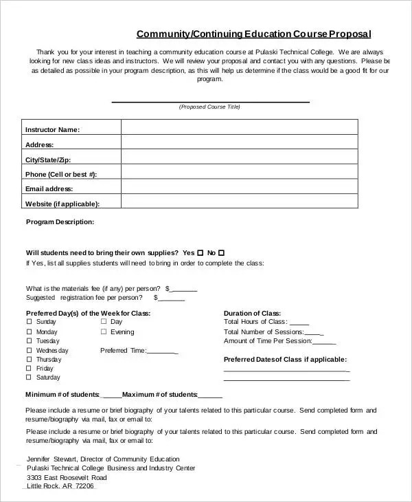Community Proposal Templates 10 Free PDF Format Download